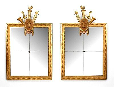 Pair of Italian Neo-Classic (18/19th Cent.) Gilt Framed Wall Mirrors