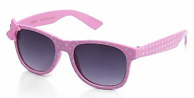 New Adorable Girls Sunglasses Polka Dot With Bow - UV Protection