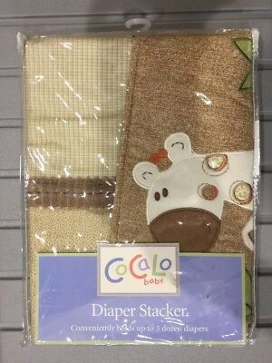 New Cocalo Baby Diaper Stacker, Plush Giraffe, Valance & Crib Sheet Nwt
