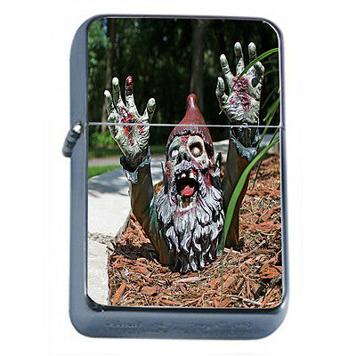 Gnomes D10 Windproof Dual Flame Torch Lighter Refillable Folklore Garden Statue