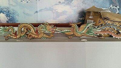 Chinese Dragon And Phoenix Wall Sculpture