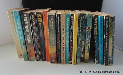 20 x Vintage science fiction books collection GC & CHECKED