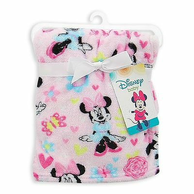 Minnie Mouse Baby Girl Fleece Blanket Disney NEW Baby Shower Gift