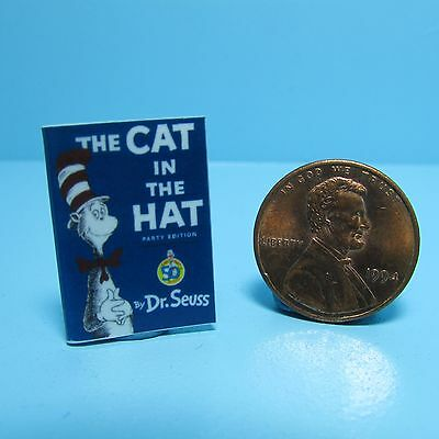Dollhouse Miniature Replica of Book Dr Seuss The Cat in the Hat ~ B137