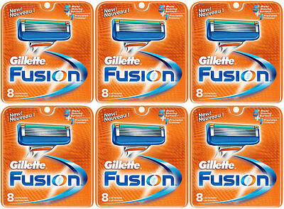 NEW AUTHENTIC Gillette Fusion Razor Blades Cartridge Refills - 48 Count