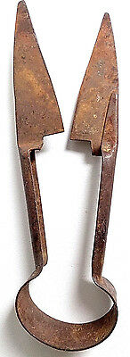 Antique Rusty Primative 12'' Sheep Wool Trimming Shears