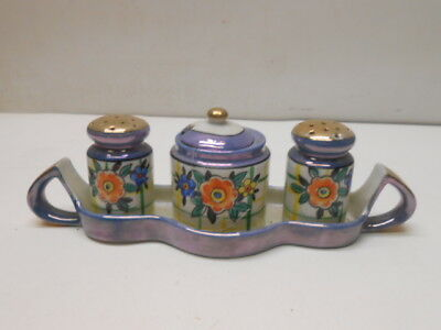 Vintage TT Salt & Pepper Shakers w/ Sugar Bowl and Tray Made in Japan • $8.99