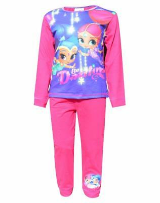 Girls Official Licensed Shimmer & Shine Pyjamas Kids Pyjama Pjs Age 1 to 5 Years
