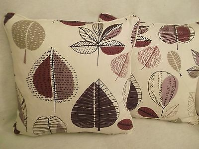 """Maple By Prestigious New 100% Cotton Fabric 1 Pair Of 18""""cushion Covers"""