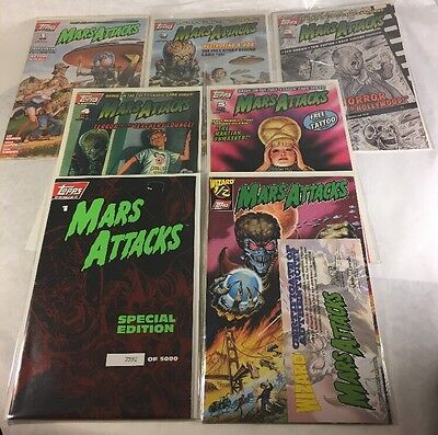 Topps Comics 1994 Mars Attacks #1-5 Plus Wizard 1/2 Edition & Special Edition