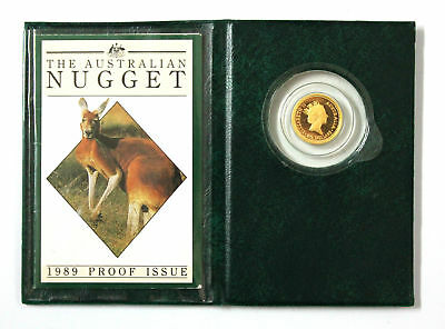 The Australian Nugget 1989 Proof Issue $15 Dollar 1/10 Ounce Gold Coin