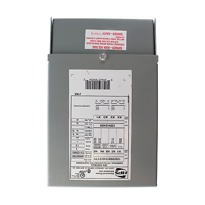 Hammon C1F1C5Wes Distribution Transformer, 120/208/240/277 To 120/240Vac, 1.5Kva