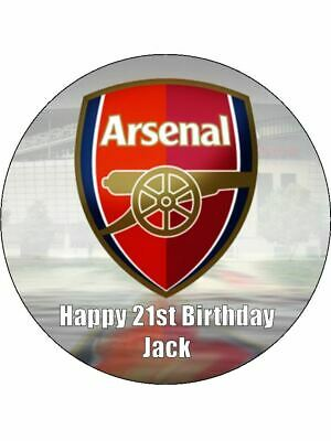 Arsenal FC Soccer 19cm Edible Icing Image Birthday Cake Party Decoration Topper
