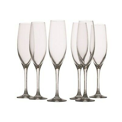 Maxwell & Williams Mansion 180ml Flute Glass Set of 6 Brand New