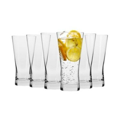 Krosno Copenhagen 360ml Hi-Ball Glass - Set of 6 - Gift Boxed Brand New