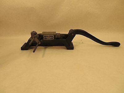 J.F. Helmold Right & Left Miter Cutting & Creasing Rule Machine Chicago Model