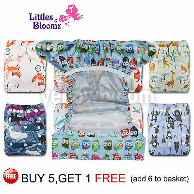 Baby Reusable Cloth NAPPY Cover Wrap To Use With Muslin Squares or Prefold