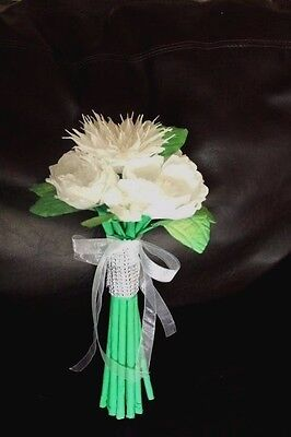 "Large Bouquet Mexican Crepe Paper Flowers Bride ""I Special Order"""
