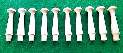 Shaker pegs turned from American Maple Pennsylvania made antique style 10 / pac.