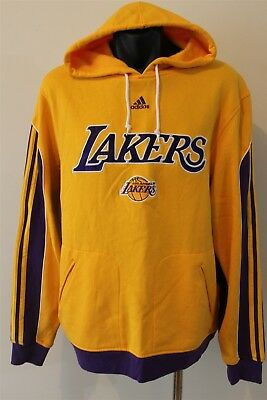 Los Angeles Lakers Nba Basketball Hooded Jumper Men's Size Small Adidas