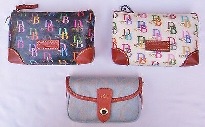 Dooney & Bourke  Cosmetic Case  Style # QH20 PF, and Wristlet  Style# 1Q060 BL