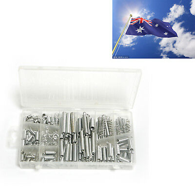 200pcs Assorted Small Metal Loose Steel Coil Springs Assortment Kit + Box