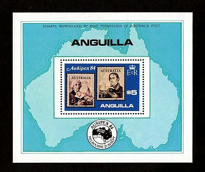 Anguilla - 1984 - Ausipex - Stamp On Stamp - Australia - Mint - Mnh S/sheet!