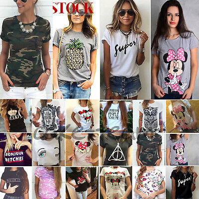 Women Summer Loose T Shirt Short Sleeves Blouse Ladies Casual Tops Plus Size Tee