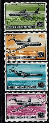 Burundi   1967  Airmail Set Of 4 Cto/very Fine Used