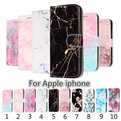 Magnetic Pattern Leather Flip Wallet Card Stand Case Cover For iPhone 6S 7 Plus