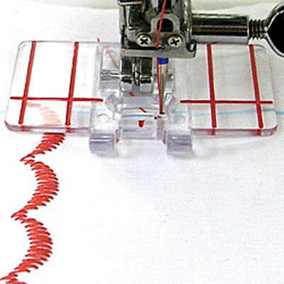 Sewing Machine Clear Plastic Parallel Stitch Foot Presser Fit Brother Domestic