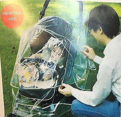Top Quality Universal Pushchairs Baby Stroller Rain Cover Pram Transparent