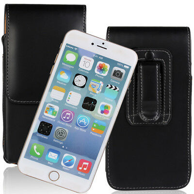 Vertical Pouch Cover PU Leather Belt Clip Holster Anti-dust for Mobile Phones
