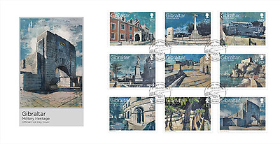 """Gibraltar - 2017 """"Military Heritage"""" First Day Cover"""