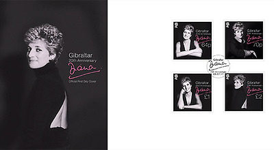 """Gibraltar - 2017 """"Diana"""" First Day Cover"""