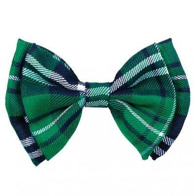 St Patricks Day Fancy Dress Plaid Bow Tie