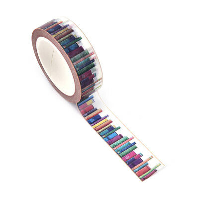 15 mm*10m DIY Library Washi Tapes Decorative Adhesive Tapes School Suppy 3C