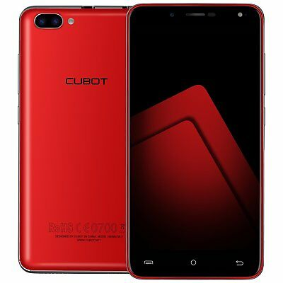 "5"" CUBOT RAINBOW 2 3G HD Smartphone Android7.0 Quad Core Dual SIM 16GB 13MP Rojo"