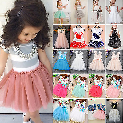 Flower Girls Princess Dress Party Wedding Pageant Tulle Tutu Bridesmaid Dresses