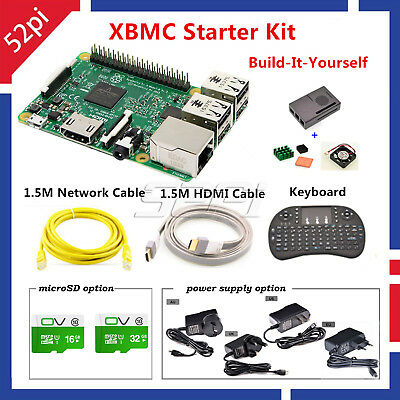 RASPBERRY PI 3 XBMC KODI OSMC Media Center Kit RF Remote