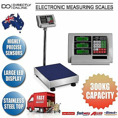 Electronic Platform Scales Business Home Weight Measuring Large 300kg New