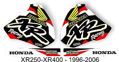 HONDA  XR400 XR250 tank GRAPHICS KIT.Complete Decal kit 1996 to 2006 XR 600 400