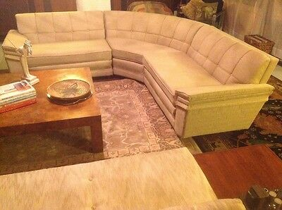 Modern Mid-Century Hollywood (3) Piece Sectional ( reupholstered)