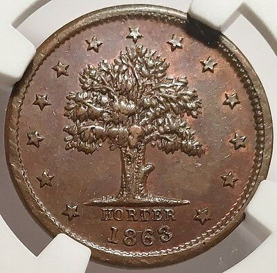 New York CWSC - I. Sommers Jones Wood Hotel - NY630BR-1a NGC MS-64 BN - Tree