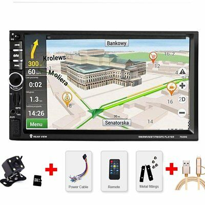 autoradio 6 2 touch 2 din mit gps navigation navi dvd mp3. Black Bedroom Furniture Sets. Home Design Ideas