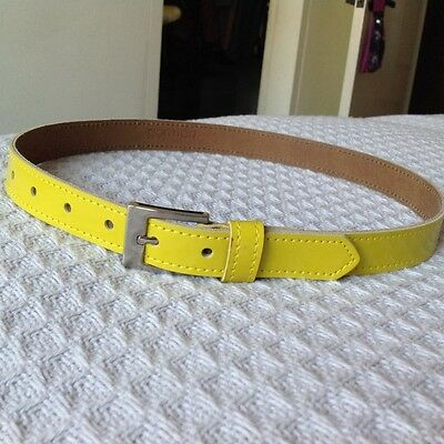 Gorman leather belt - yellow - small