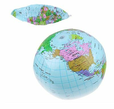 Inflatable Blow Up Atlas Globe World Map View Earth Geography Good Quality