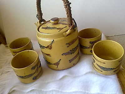 Vintage Japan Teapot and 4 cups