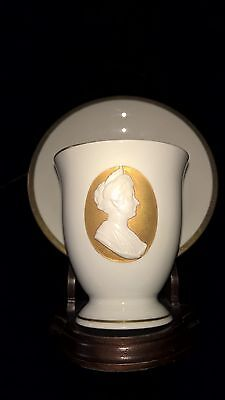 Antique KPM cup & saucer in relief