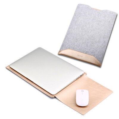 """AU PU Leather Laptop Sleeve Case Cover Bag for MacBook Air Pro 11"""" 12"""" 13"""" 15"""""""